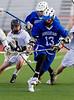 Boys High School Varsity Lacrosse.  Horseheads Blue Raiders at Corning Hawks.  March 27, 2013.