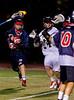 Boys Varsity Lacrosse.  Binghamton Patriots at Corning Hawks. April 10, 2013.