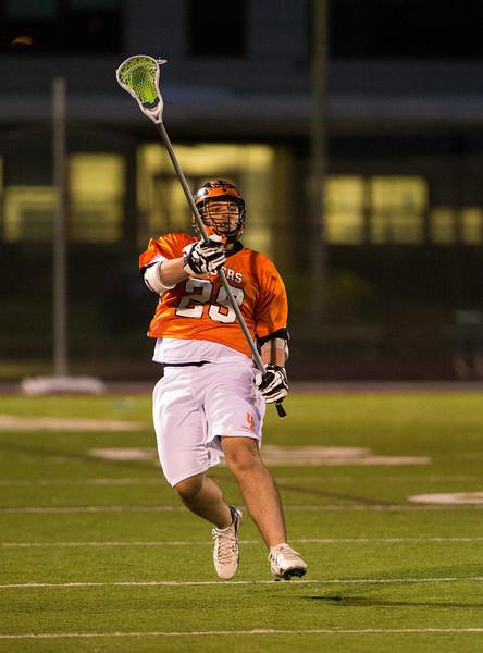 Boys High School Varsity Lacrosse.  Union-Endicott Tigers at Corning Hawks.  April 19, 2013.