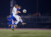 Varsity Boys High School Soccer.  Horseheads Blue Raiders at Corning Hawks.  October 4, 2013.