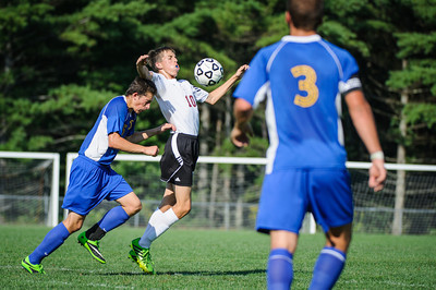 Boys' Varsity Soccer match against Concord Christian Academy held on August 30, 2013 at the The Derryfield School in Manchester, NH.