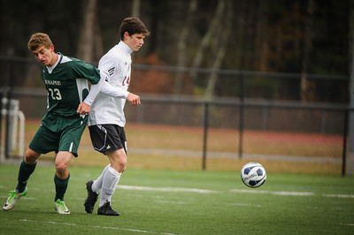 Varsity soccer state championship final between Sunapee (green) and Derryfield (white) held on November 10, 2013 at the Exeter High School in Exeter, NH.