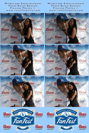 2013 Dodgers Fan Fest - Coors Light Beer Promotion - Photo Booth Pictures