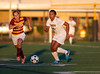Girls High School Varsity Soccer, Ithaca Little Red at Corning Hawks. September 5, 2013.