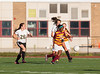 Girls High School Junior Varsity Soccer.  Ithaca Little Red at Corning Hawks. September 5, 2013.
