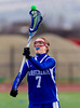 Girls Junior Varsity High School Lacrosse.  Horseheads Blue Raiders at Corning Hawks. March 26, 2013.