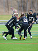 Girls Junior Varsity High School Lacrosse.  Corning Hawks at Pittsford Panthers.  April 13, 2013.