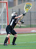 Girls High School Junior Varsity Lacrosse.  Union-Endicott Tigers at Corning Hawks.  April 18, 2013.