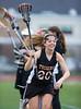 Girls High School Varsity Lacrosse.  Union-Endicott Tigers at Corning Hawks.  April 18, 2013.