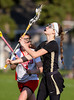 Girls High School Junior Varsity Lacrosse.  Corning Hawks at Binghampton Patriots.  April 26, 2013.