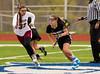 Girls High School Junior Varsity Lacrosse.  Corning Hawks at Elmira Express.  April 29, 2013.