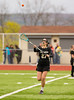 Girls High School Junior Varsity Lacrosse.  Corning Hawks at Elmira Express.  April 29, 2013.