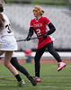 High School Junior Varsity Girls Lacrosse.  Ithaca Little Red at Corning Hawks.  May 13, 2013