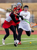 High School Girls Junior Varsity Lacrosse.  Canandaigua Academy Braves at Corning Hawks, March 23, 2013.