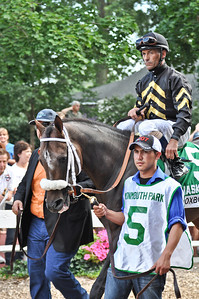 Oxbow, trained by D. Wayne Lukas, with Gary Stevens up.