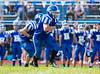 High School Varsity Football. Elmira Express at Horseheads Blue Raiders.  September 28, 2013.