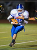 High School Varsity Football.  Horseheads Blue Raiders at Corning Hawks.  October 11, 2013.