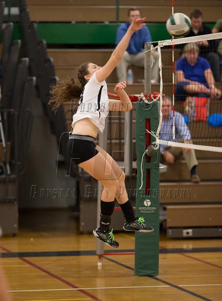 Varsity High School Volleyball.  Maine-Endwell Spartans at Corning Hawks.  October 3, 2013.