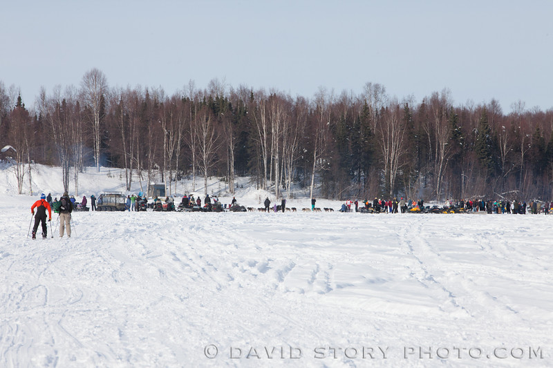 Spectators gather for the 2013 Iditarod.