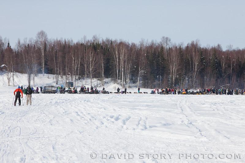 Spectators gather for the 2013 Iditarod.