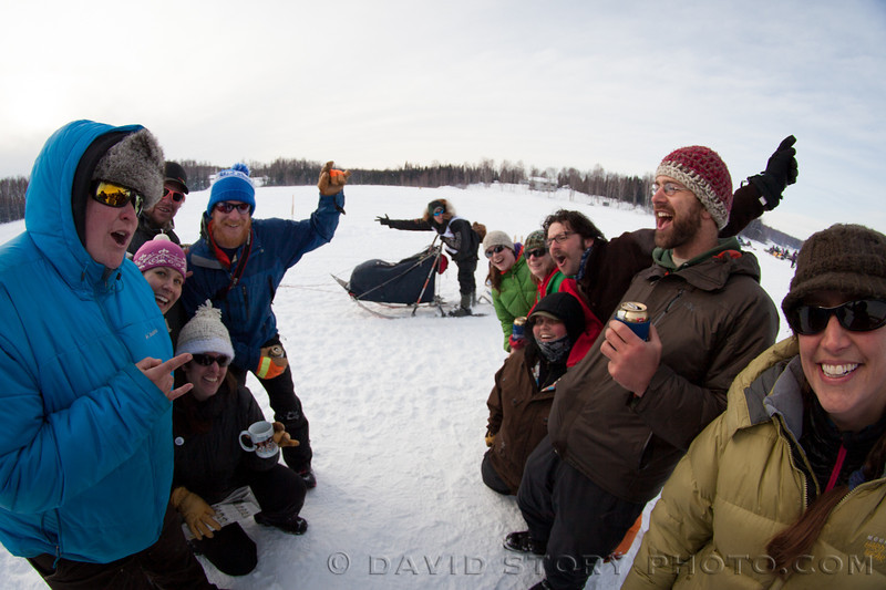 Matthew Failor makes the Iditarod more memorable for a group of fans.