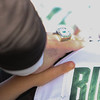 father son during the before game prayer