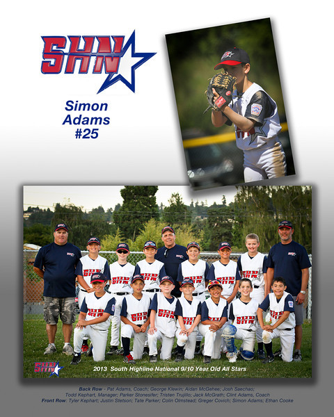 2013 SHNLL All Star Collages - 9-10 and 11-12 Year Olds