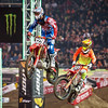 Christian Craig pressures Chad Gores - 250 Heat - 5 Jan 2013