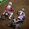 Justin Barcia pressures Mike Alessi - 450 Heat - 5 Jan 2013