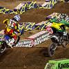 Kyle Chisolm pressures Josh Hansen - 450 LCQ - 5 Jan 2013