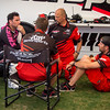 Chad Reed confers with crew - Pit Party - 4 May 2013