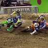 Ryan Dungey pressures Jake Weimer - 450 Heat - 4 May 2013