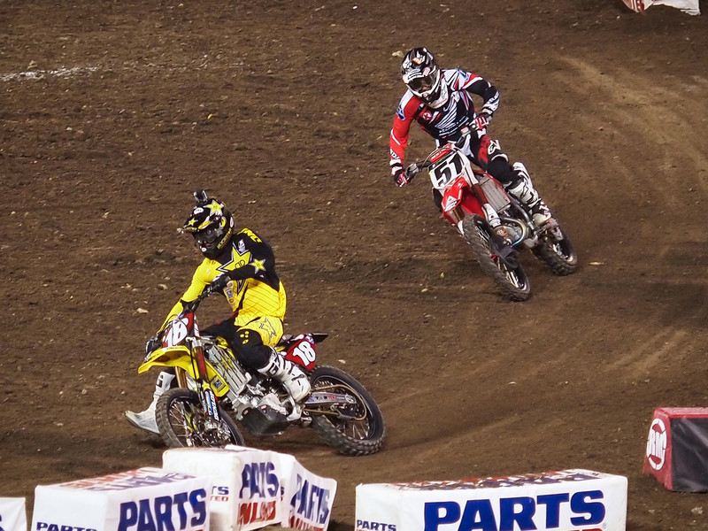 Justin Barcia and Davey Millsaps in 450 Main - 2 Feb 2013