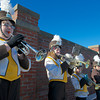 RYAN HUTTON/ Staff photo. The Haverhill High School band performs during the Thanksgiving Day game against Lowell.