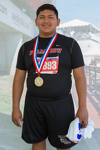 "Palmview's Felipe Valencia has claimed the state championship in the shot put with a throw of 60' 5.25"" at the Texas UIL 5A State Track & Field Championships in Austin on Satruday."