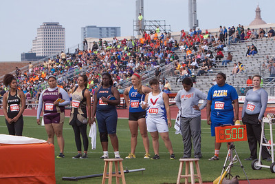 Competitors in the UIL Texas, 4A Track & Field Girls Discus event Championships  included Keilah Garcia of Mission Veterans Memorial (1779) who took 4th place; Heather Scheetz of El Paso Hanks (1322) who took 3rd place; Haley Teel of Gregory-Portland (1472) who took 2nd place  and Nekia Jones of Beaumont Ozen (1072) who took 1st place in Austin on Friday.