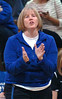 Gate City Coach ralley's her girls during quarterfinial match against Grayson County. Photo by Ned Jilton II