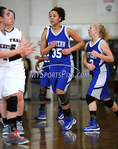 1/17/2013 Mike Orazzi | Staff Bristol Eastern's Karissa Smith (35) during Thursday night's basketball game at BCHS.