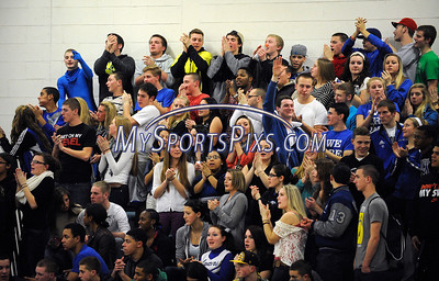 1/18/2013 Mike Orazzi | Staff Fans on the Bristol Eastern side during the Eastern Central boys basketball game on Friday night.