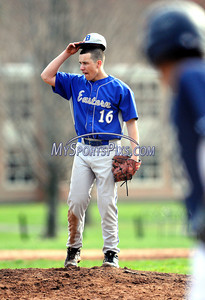 4/10/2013 Mike Orazzi | Staff Bristol Eastern's Dave Levesque (16) on the mound against Platt at BEHS on Wednesday.