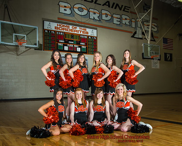 Blaine Cheerleaders, Basketball 2013, Team 8X10