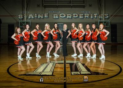 Blaine Cheerleaders, Basketball 2013, Team 5x7