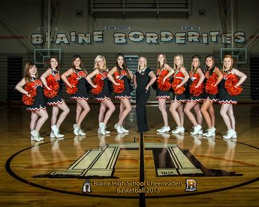 Blaine Cheerleaders, Basketball 2013, Team 8x10