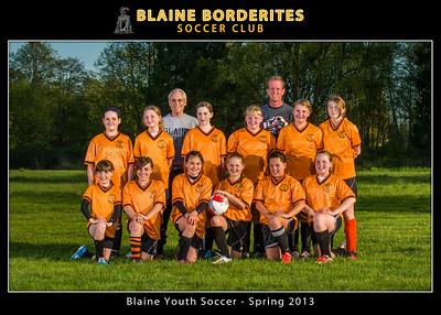 Blaine Youth Soccer 2013, Team, 5x7, Coach