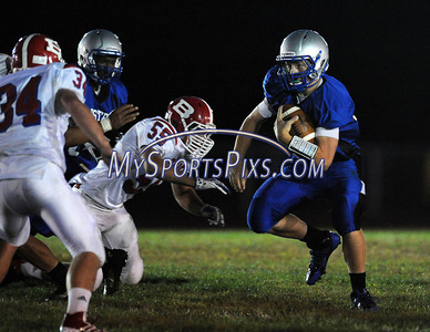 9/12/2013 Mike Orazzi   Staff Bristol Eastern's Tommy Curtin (10) during Friday night's football game at Eastern High School.