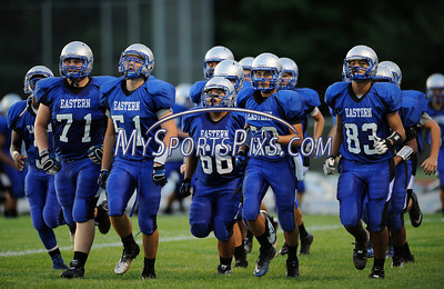 9/12/2013 Mike Orazzi | Staff Bristol Eastern takes the field on Friday night.