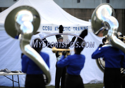 9/14/2013 Mike Orazzi | Staff CCSU band members at the start of Saturday's home opener football game with Holy Cross in New Britain.