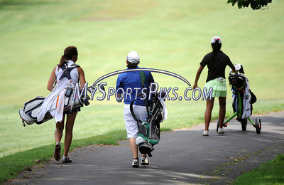 7/24/2013 Mike Orazzi | Staff Emma Heim, Sienna Fuccio and Mikayla  while participating in the 36-Hole Cas Coscina Memorial JR Invitational at the Stanley Golf Course in New Britain on Wednesday.