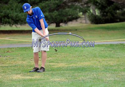 4/16/2013 Mike Orazzi | Staff Bristol Eastern's Kyle Caron during Tuesday's golf match with Berlin at the Chippanee Golf Club.