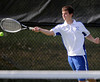 5/7/2013 Mike Orazzi | Staff<br /> Bristol Eastern's Scott Drouin during a boys tennis match with South Windsor at BEHS on Tuesday afternoon.